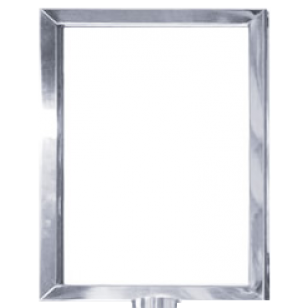 Polished Stainless Steel A4 Portrait Picture Frame