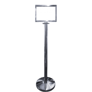 Polished Stainless Steel Upright A4 Landscape Picture Frame