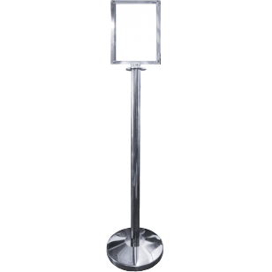 Polished Stainless Steel Upright A4 Portrait Picture Frame