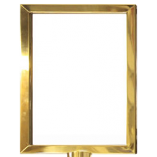 Brass Effect A4 Portrait Picture Frame